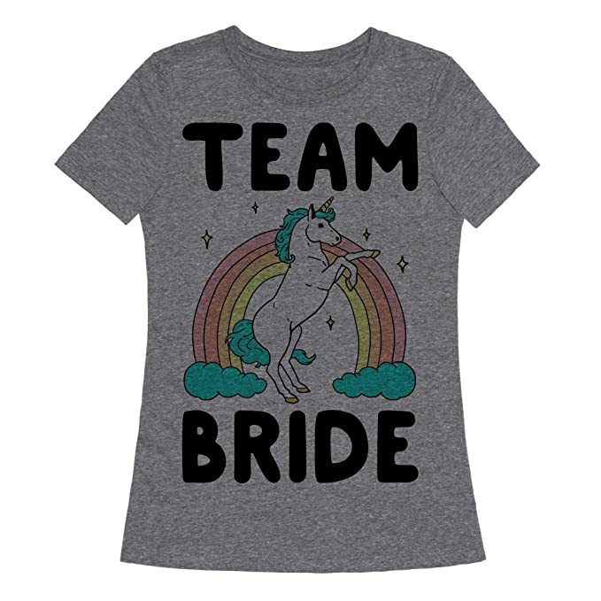 f8fc7a5c Amazon.com: LookHUMAN Magical Team Bride Womens Fitted Triblend Tee by:  Clothing