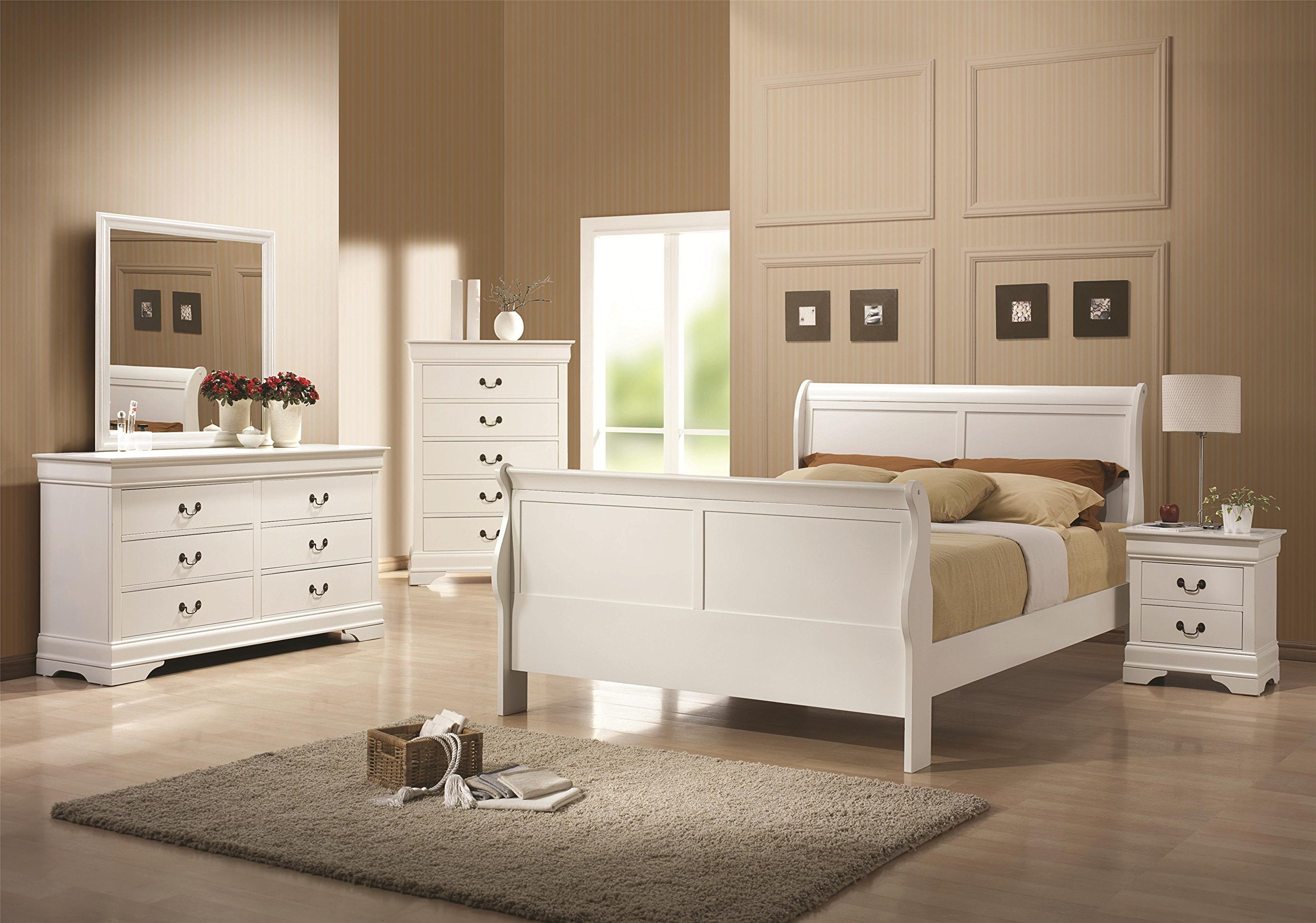 5 Pc Elizabeth Twin Bedroom Collection Bed, Dresser, Chest, Mirror, Nightstand