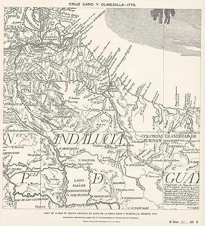 National Atlas   1775 Facsimile: Part of South America by Cruz Cano Y Olmedilla.