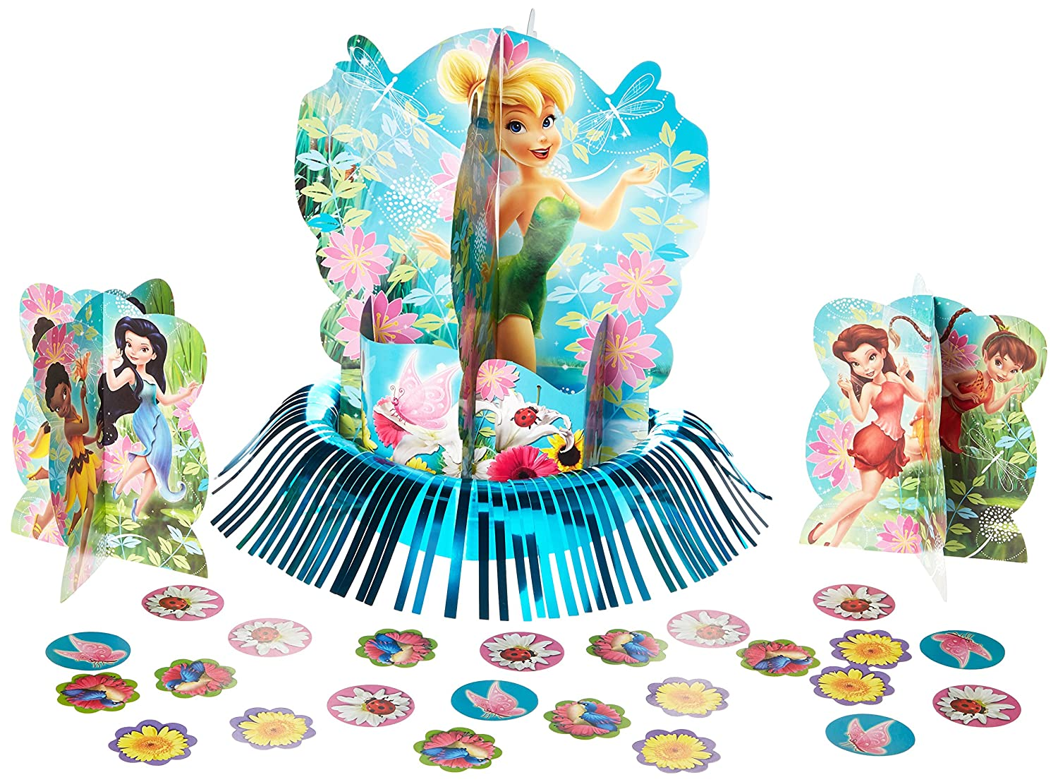 Multi Color Amscan AMI 286664 12 3//5 12 3//5 Disney Tinkerbell and the Fairies 3-D Birthday Party Table Decorating Kit
