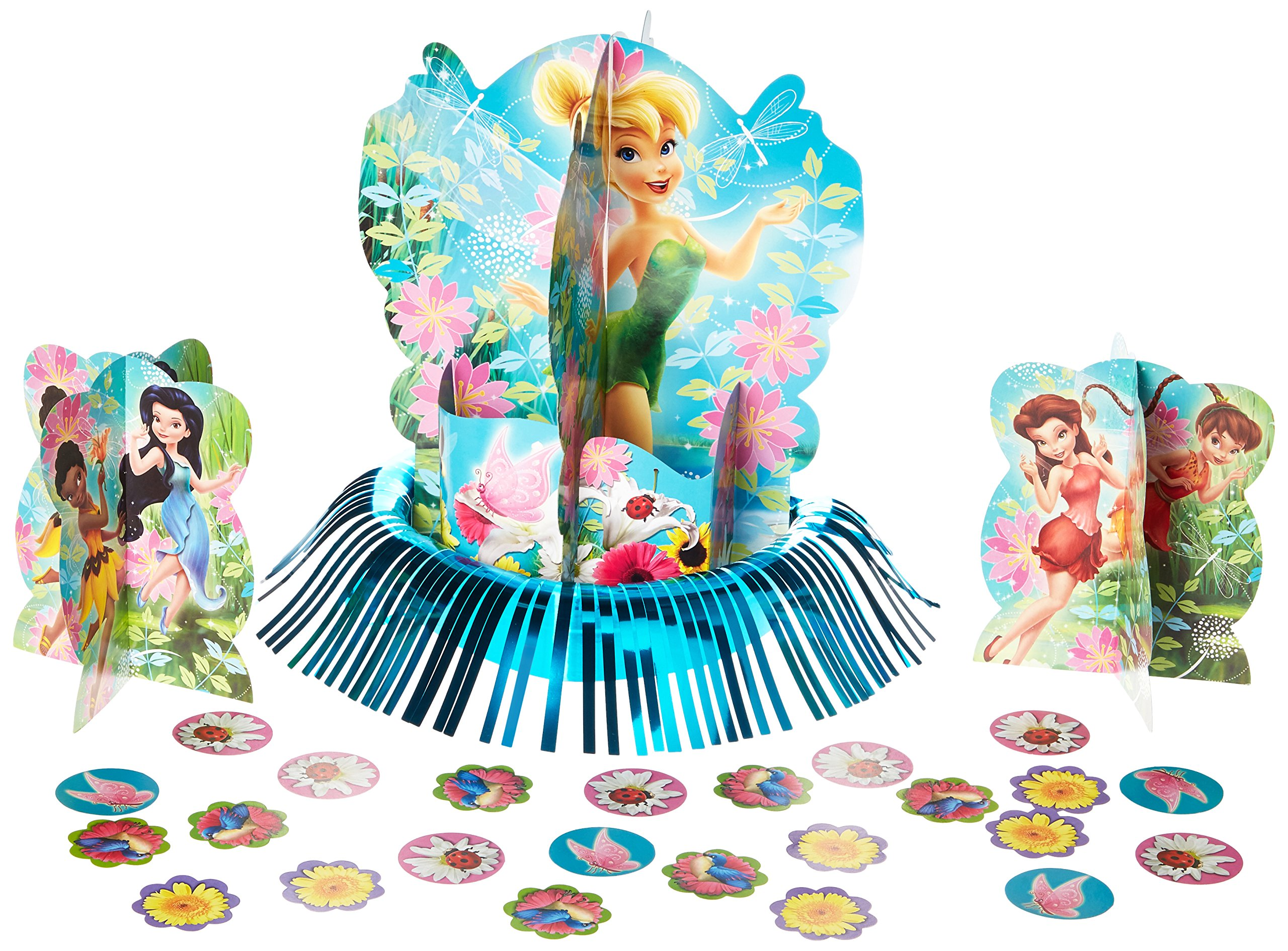 Disney Tinkerbell and the Fairies 3-D Birthday Party Table Decorating Kit, Multi Color, 12 3/5''. by Amscan
