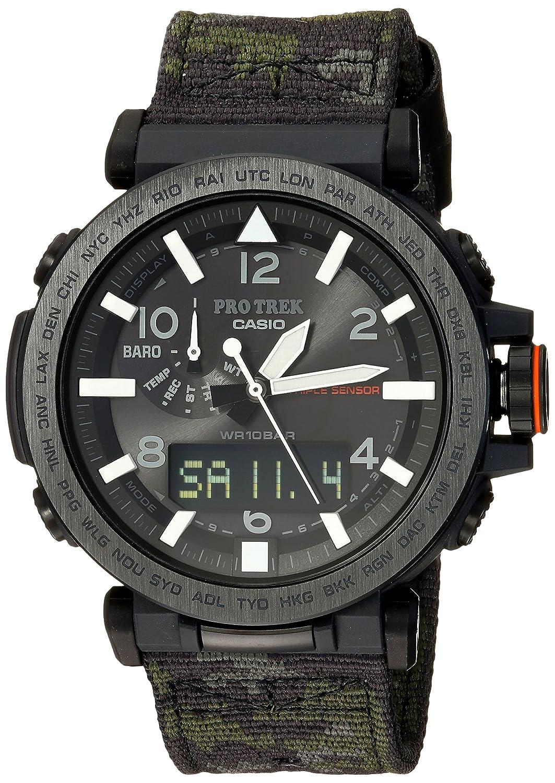 Casio Men 's ' Pro Trek ' Quartz樹脂と布カジュアルwatchMultiカラー(モデル: prg-650ybe-3cr) B075YPRTWM