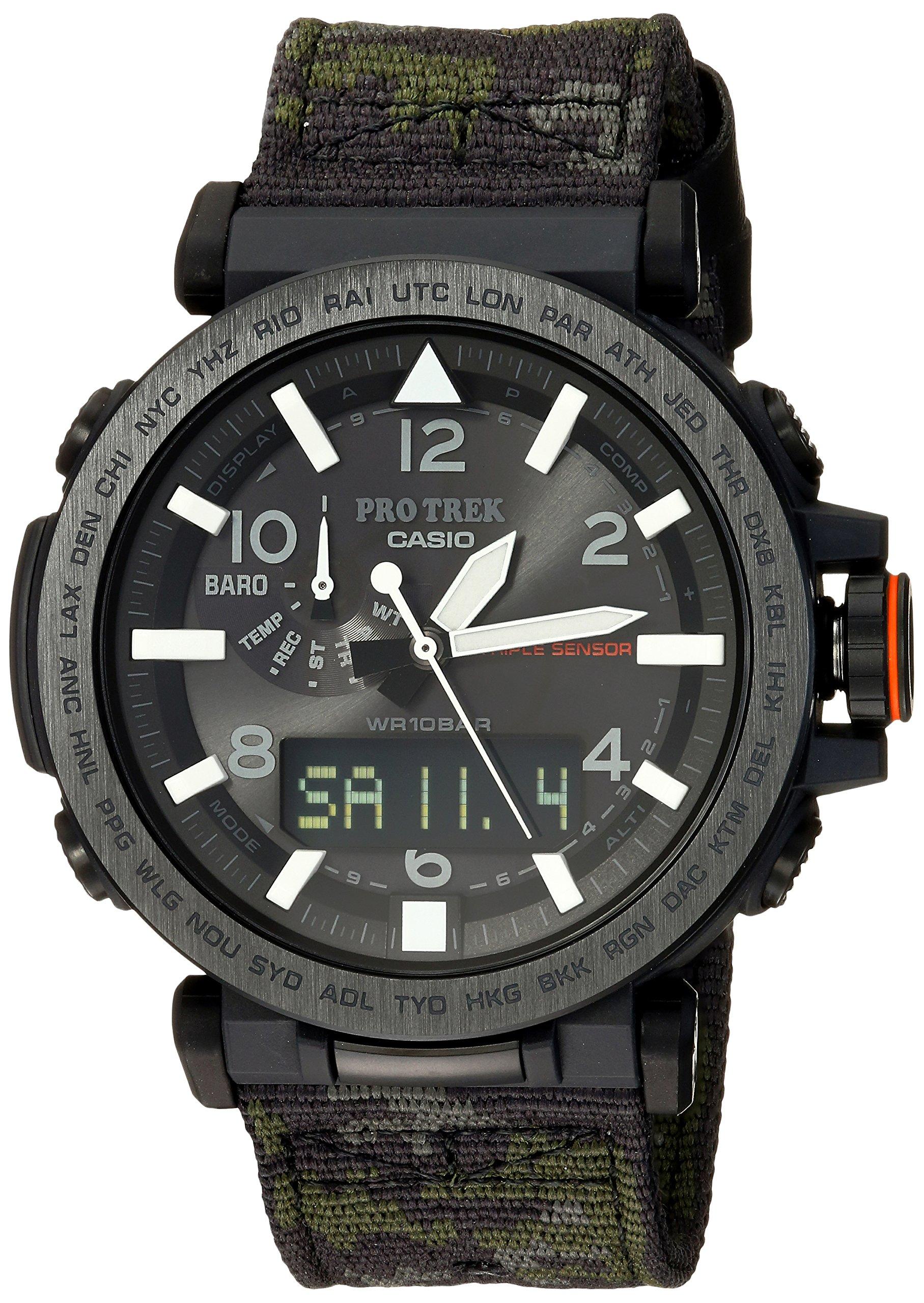 Casio Men's 'PRO TREK' Quartz Resin and Cloth Casual WatchMulti Color (Model: PRG-650YBE-3CR)