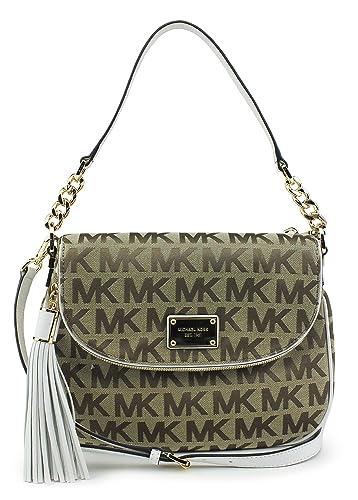 6d6571d47ed9 Amazon.com: MICHAEL Michael Kors Jet Set Item Medium Tassel Convertible  Shoulder Bag Beige/Ebony/White: Shoes