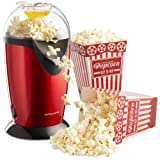 Andrew James Red Hot Air Popcorn Maker, Includes 4 Popcorn Boxes
