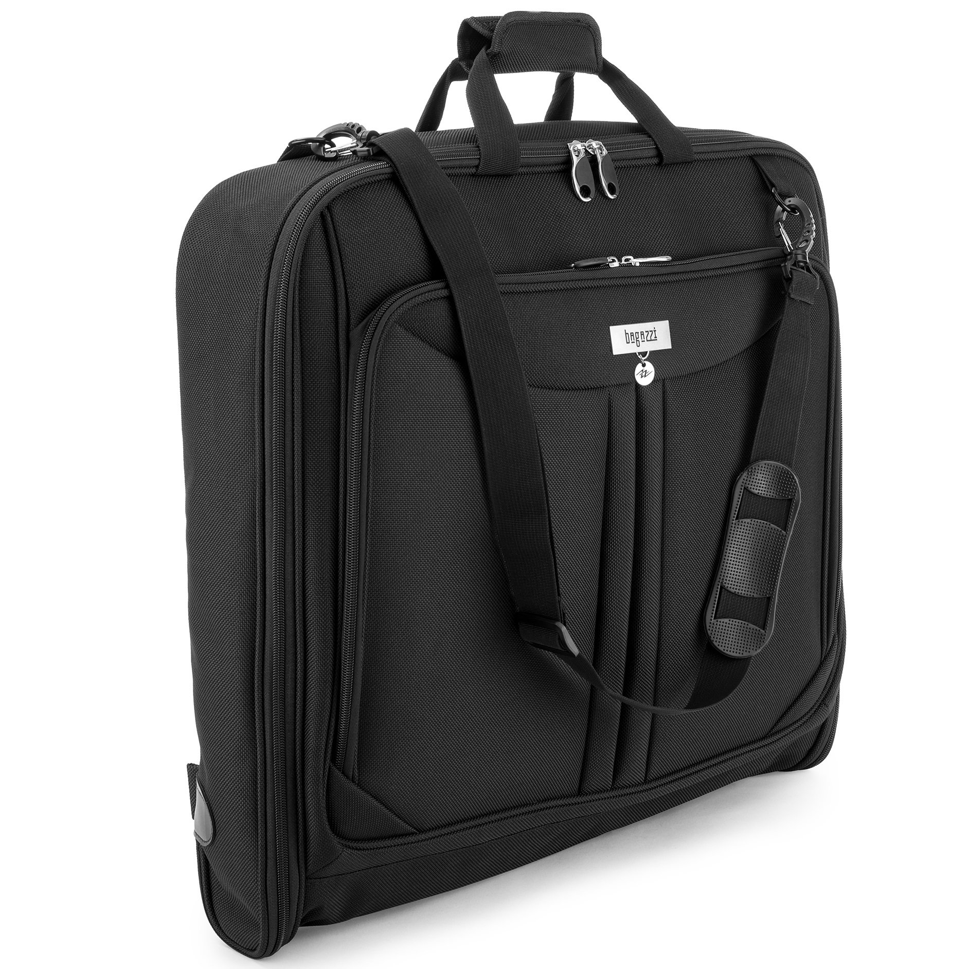 3 Suit Carry On Garment Bag for Travel & Business Trips With Shoulder Strap 40'' Bagazzi Brand by Bagazzi (Image #2)