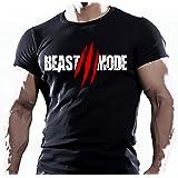 BEAST MODE MENS BODYBUILDING GYM MOTIVATION GOKU T-Shirt MMA WORKOUT TOP