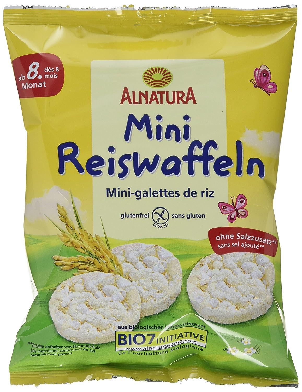 Alnatura Bio Reiswaffeln, Mini, glutenfrei, 10er Pack (10 x 40 g) 385371