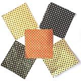 Chocodecor AluminiumChocolate Wrapper, Set of 300 pcs, Multi Colour dot Design (Size 8.5cm x 9 cm)