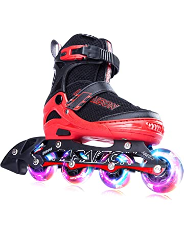 fbb986c00598e5 PAPAISON SPORTS Adjustable Inline Skates for Kids and Adults with Full  Light Up LED Wheels