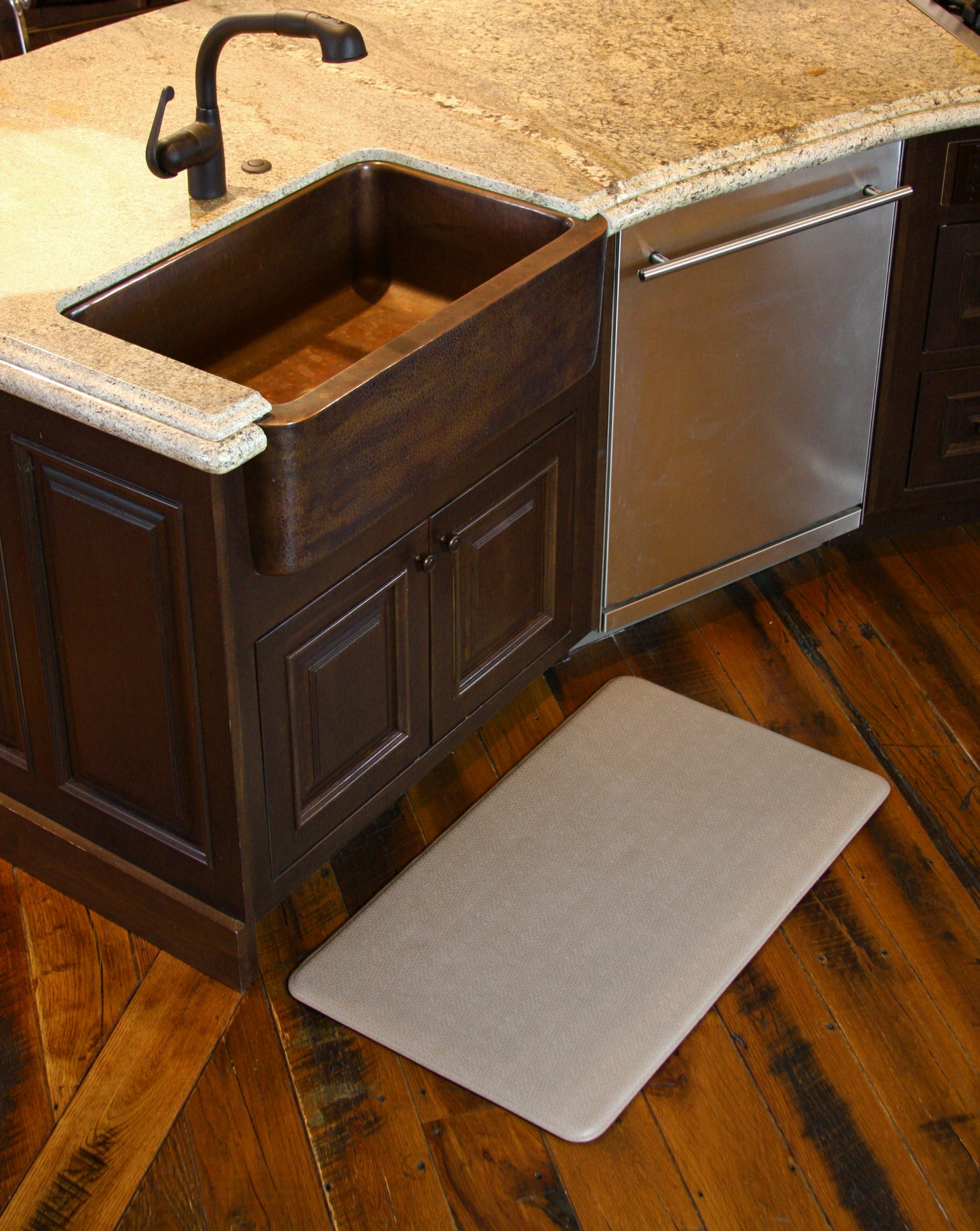 Imprint Cumulus9 Kitchen Mat Nantucket Series Island Area Runner  26 in. x 72 in. x 5/8 in. Mocha by Imprint (Image #7)