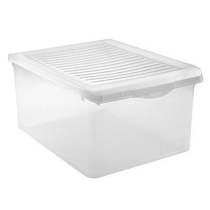 Tatay 1152301 - Caja de Almacenamiento con Tapa de plástico, 35 l, 51,