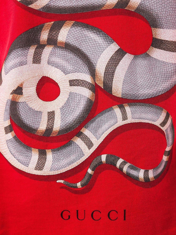 35d847600e841 Wiberlux Gucci de los Hombres Serpiente Imprimir Cuello Redondo Playera