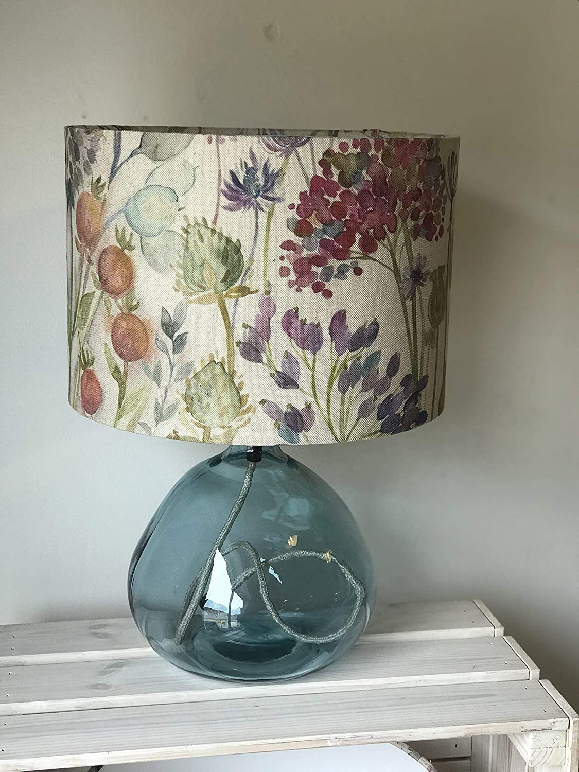Voyage Hedgerow Floral Drum lampshade, watercolours, floral