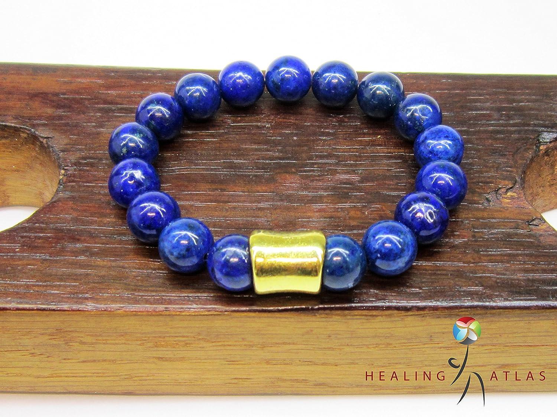 5B-082 HANDMADE Lapis lazuli Tiger Eye Leather Wristband Armband Men Bracelet