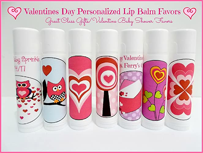 valentines day personalized lip balm favors custom lip balm free personalization set of - Custom Lip Balm