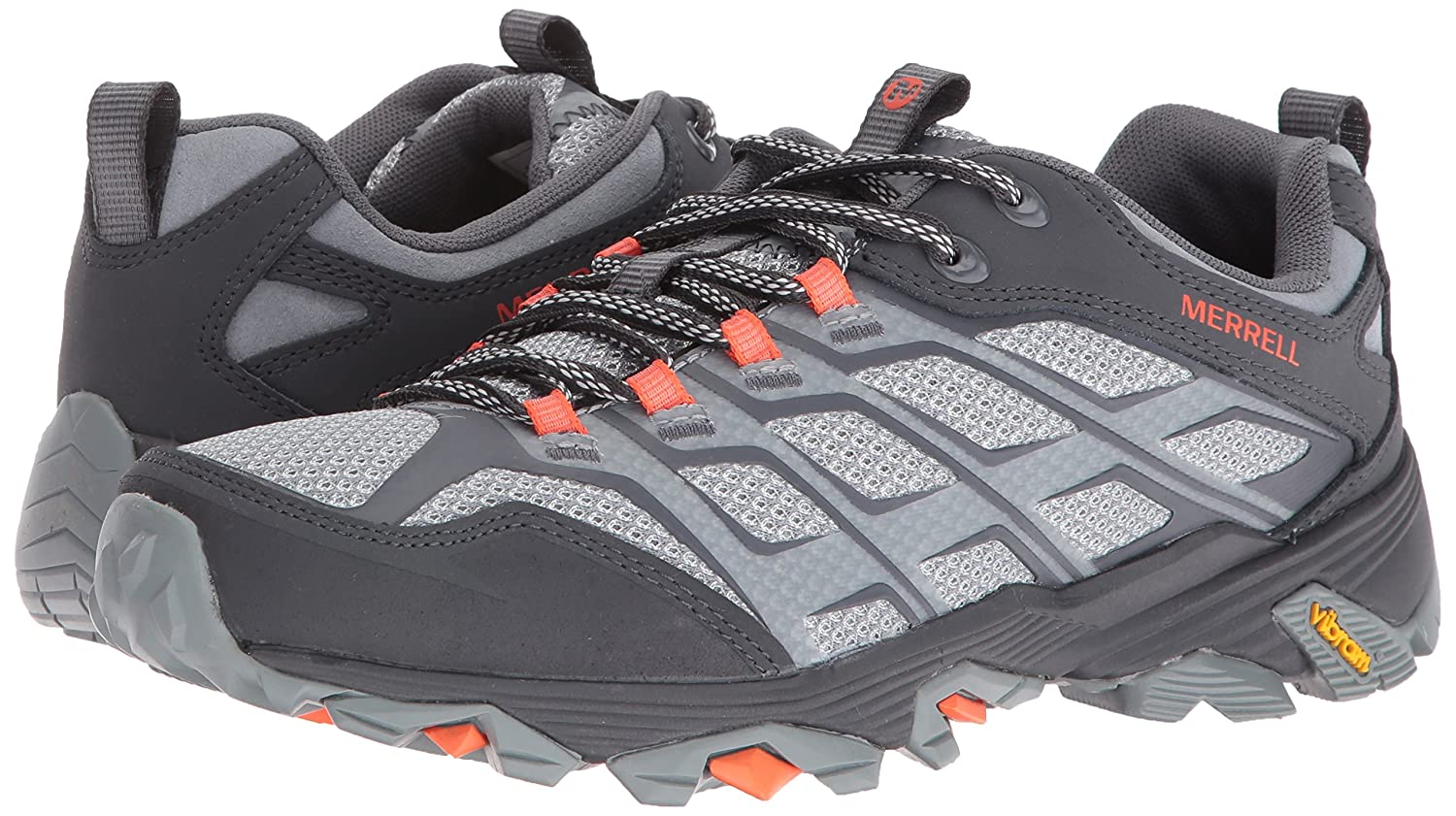 Merrell Women Grey/Orange Moab Fst Hiking Shoe, 10 D(M) US