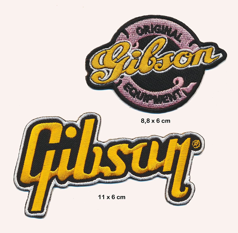 GIBSON Aufn/äher Aufb/ügler Patch 2 St/ück Gitarre Les Paul Flying V TURBOVERSAND