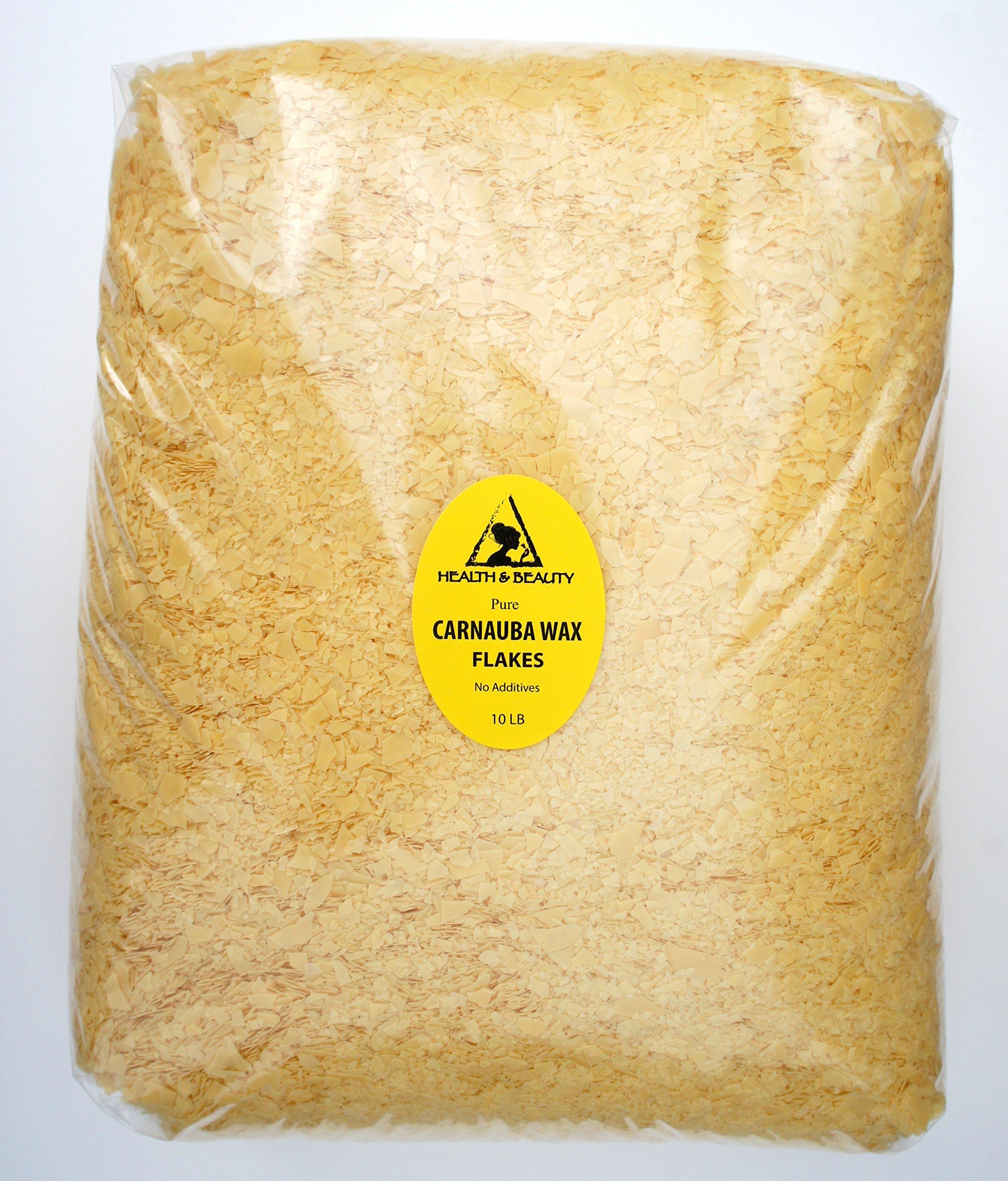Carnauba Wax Organic Flakes Brazil Pastilles Beards Premium Prime Grade A 100% Pure 10 LB by H&B Oils Center Co.