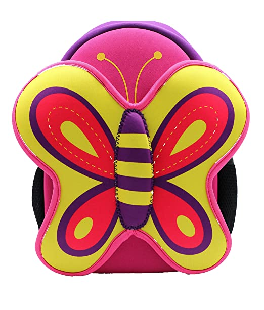 Neoprene Schoolbag for Little Kid Toddler Preschool Insulated Water-Resistant Lunch Bag Backpack (owl)