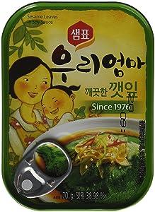 Sesame Leaves in Soy Sauce 2.4 Oz (Pack of 2)