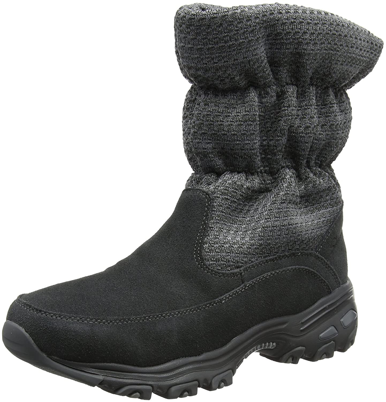 Skechers Damen DLites Stiefel  38 EU|Grau (Charcoal)