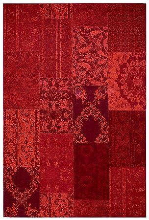 Amazon De Moderner Teppich Vintage My Milano 571 Grau Rot Gelb