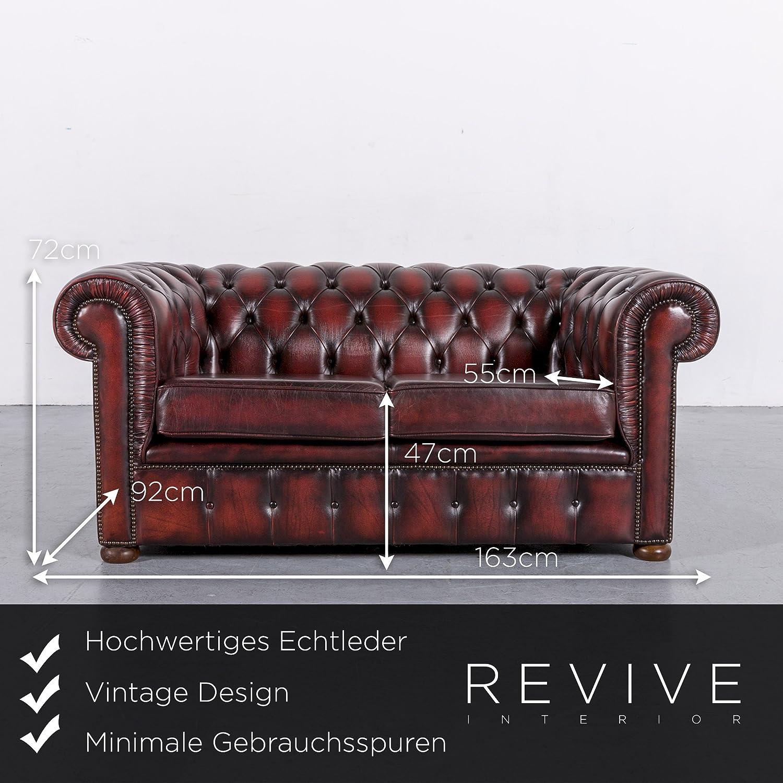Großartig Sofa Echtleder Referenz Von Conceptreview: Chesterfield Leder Rot Zweisitzer Couch Vintage