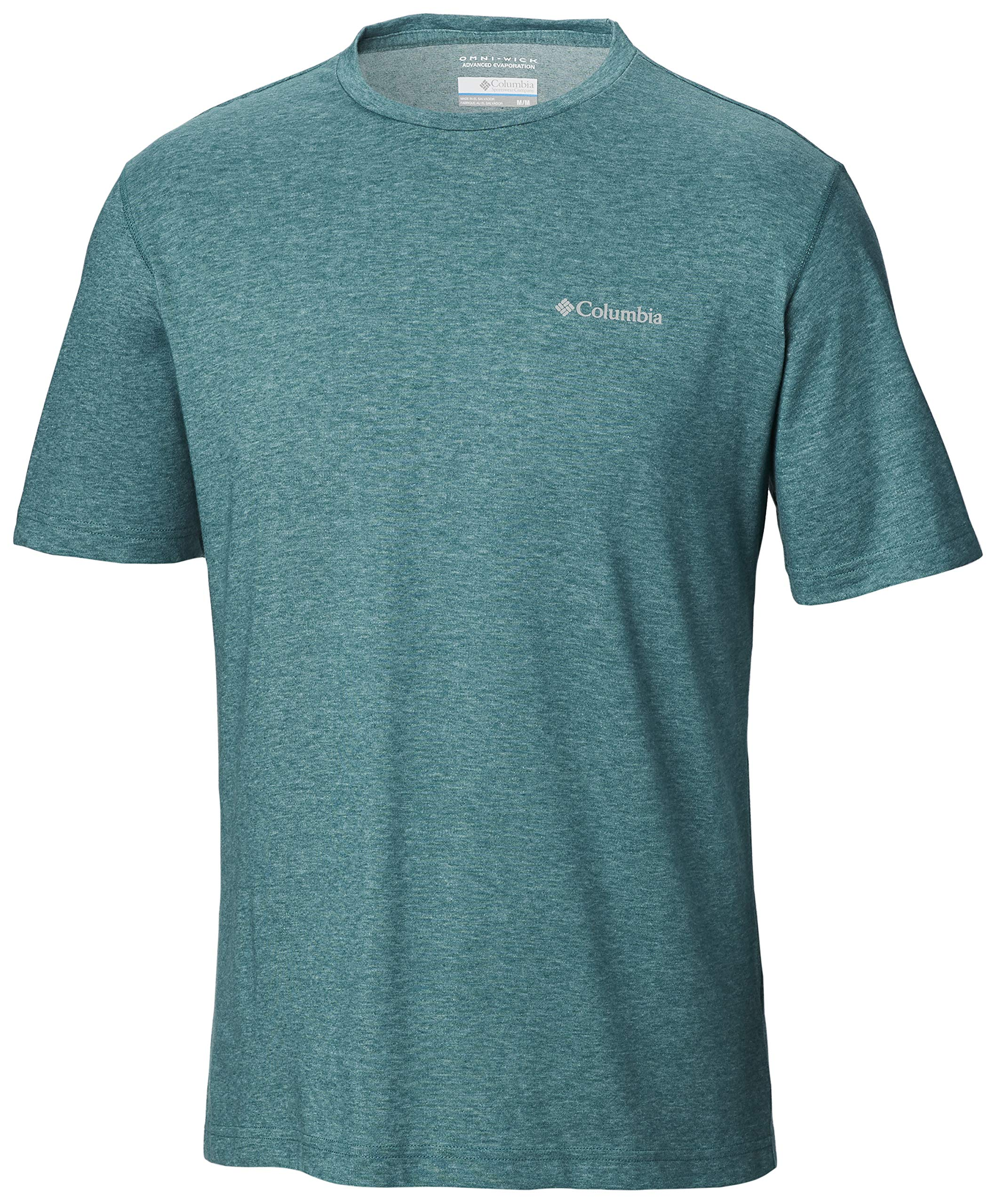 Columbia Men's Thistletown Park Crew Shirt,  Pine Green Heather,Small