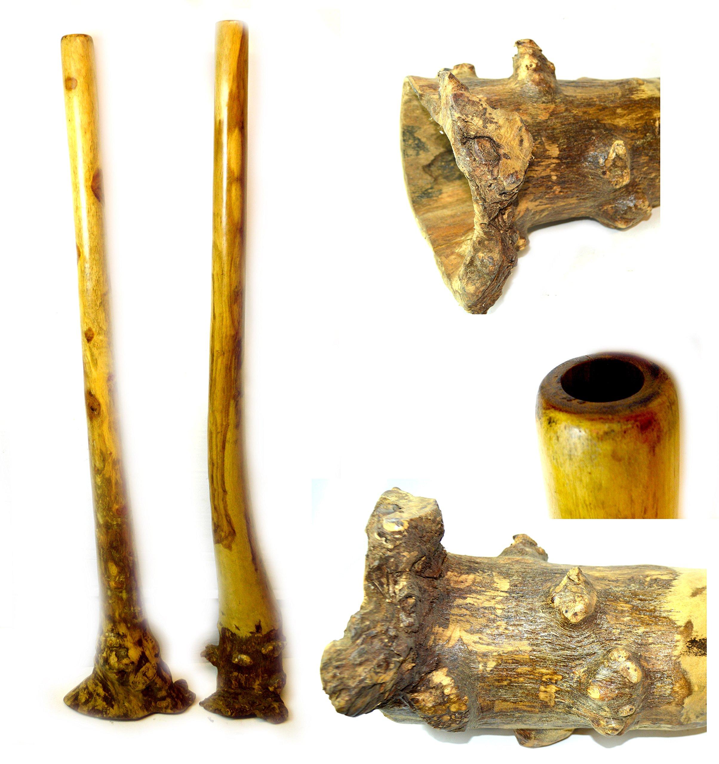 60'' Djembe Bongo Hand Carved Out of Eucalyptus African Didgeridoo Didjeridu Aboriginal Dot Art Design *One for Sale*