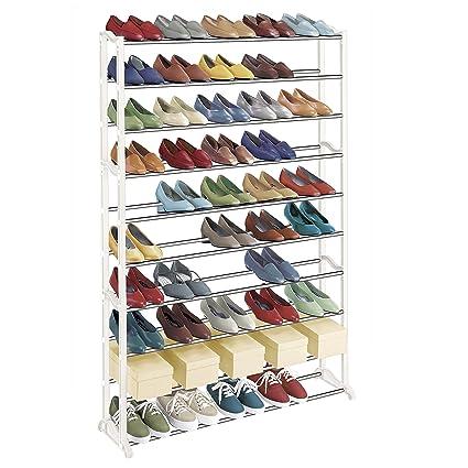 3808481b231786 Amazon.com  Lynk 50 Pair Shoe Rack - 10 Tier - Shoe Shelf Organizer ...