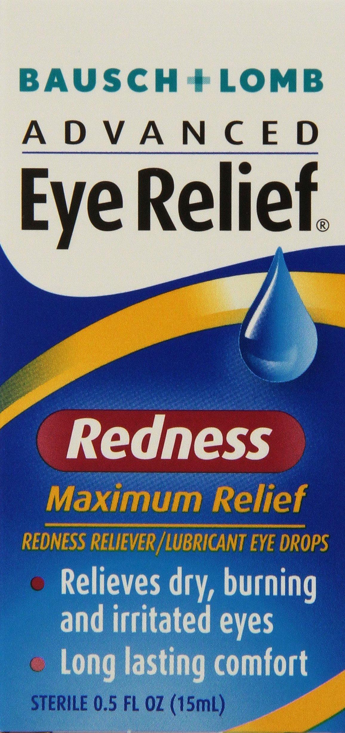 Bausch + Lomb Advanced Eye Relief Maximum Redness Reliever, 0.5 Ounce