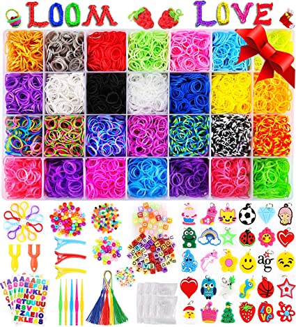 6 boxes of loom bands