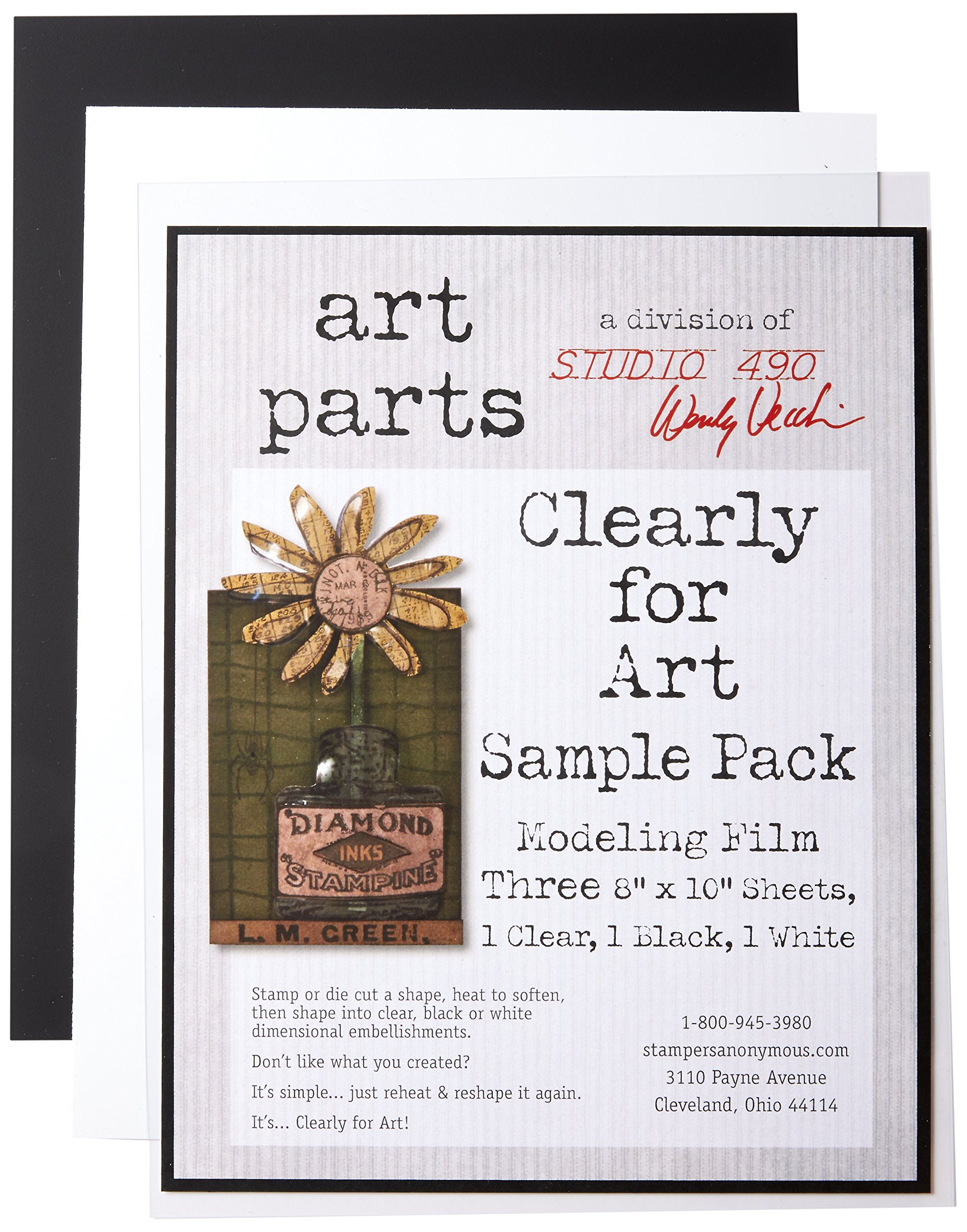 Wendy Vecchi Cleary For Art Sheets Sample Pack 3/Pkg-Clear, Blackout, Whiteout, 8''X10''