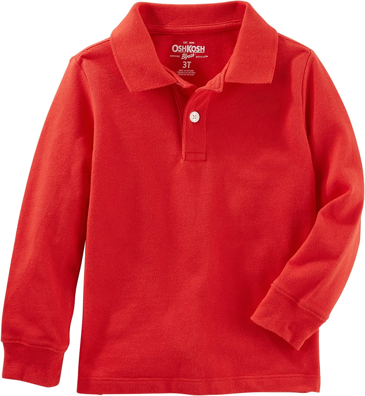 OshKosh BGosh Boys Long Sleeve Uniform Polo Osh Kosh 34374012