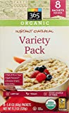 365 Everyday Value, Organic Instant Oatmeal, Variety Pack, 11.3oz, 8 ct