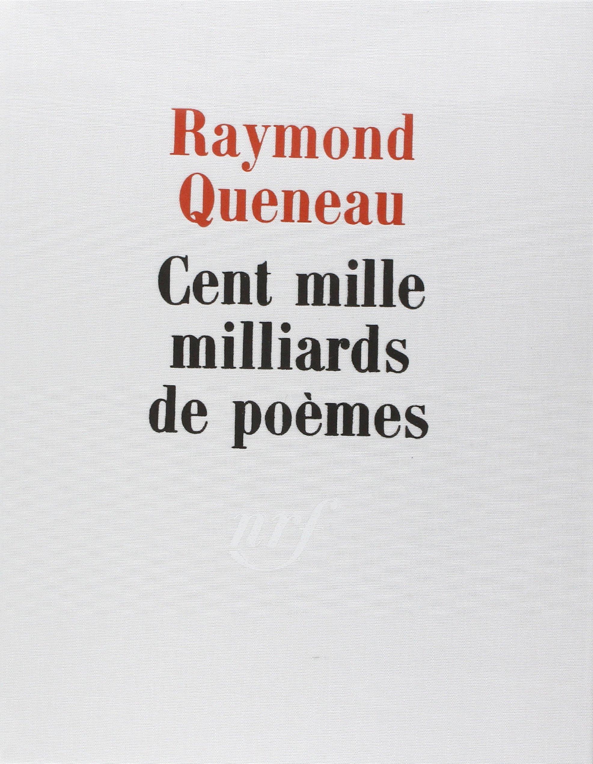 Cent Mille Milliards De Poèmes Nrf Amazones Raymond