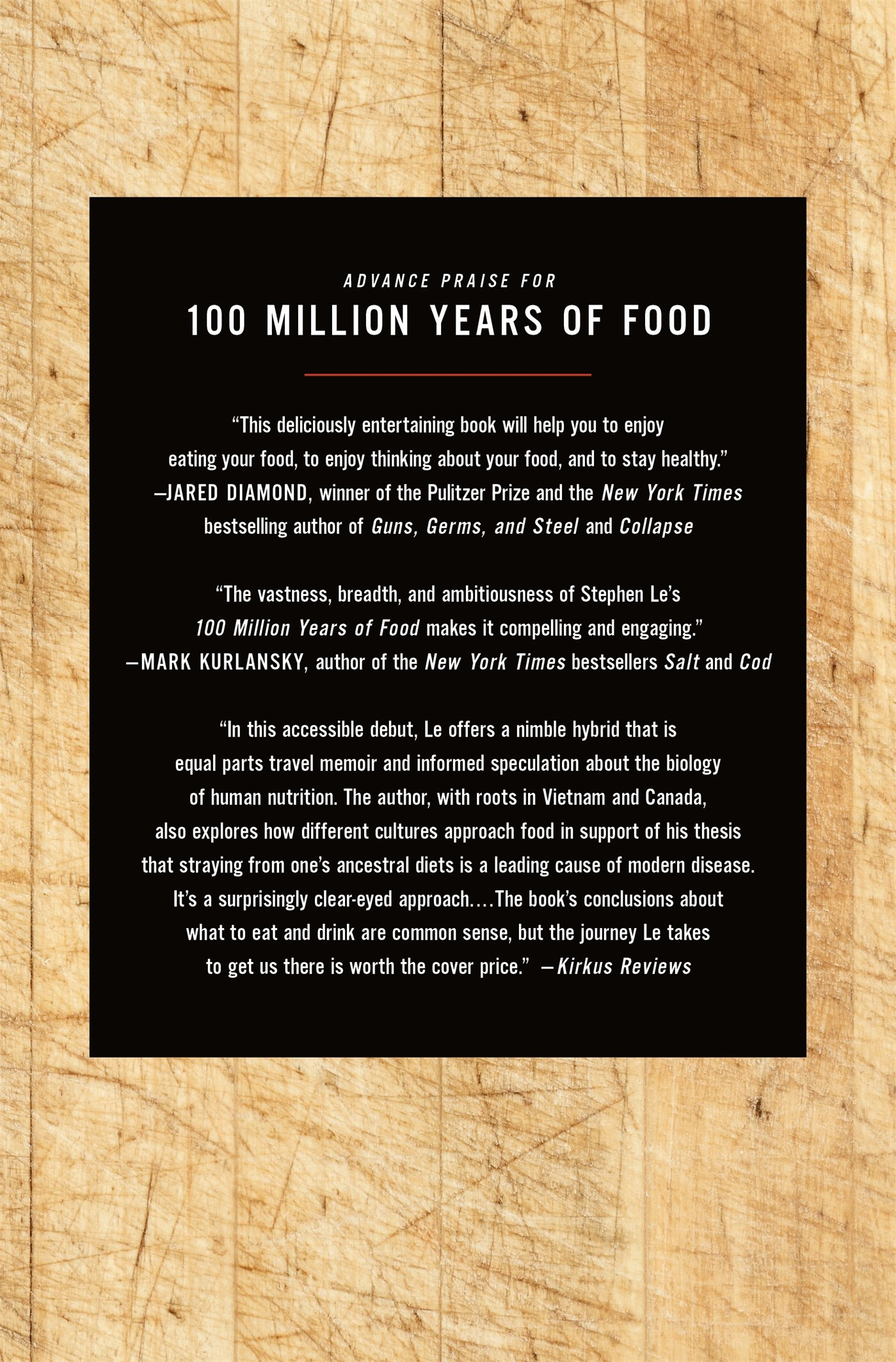 100 Million Years of Food: What Our Ancestors Ate and Why It Matters Today:  Stephen Le: 9781250050410: Amazon.com: Books