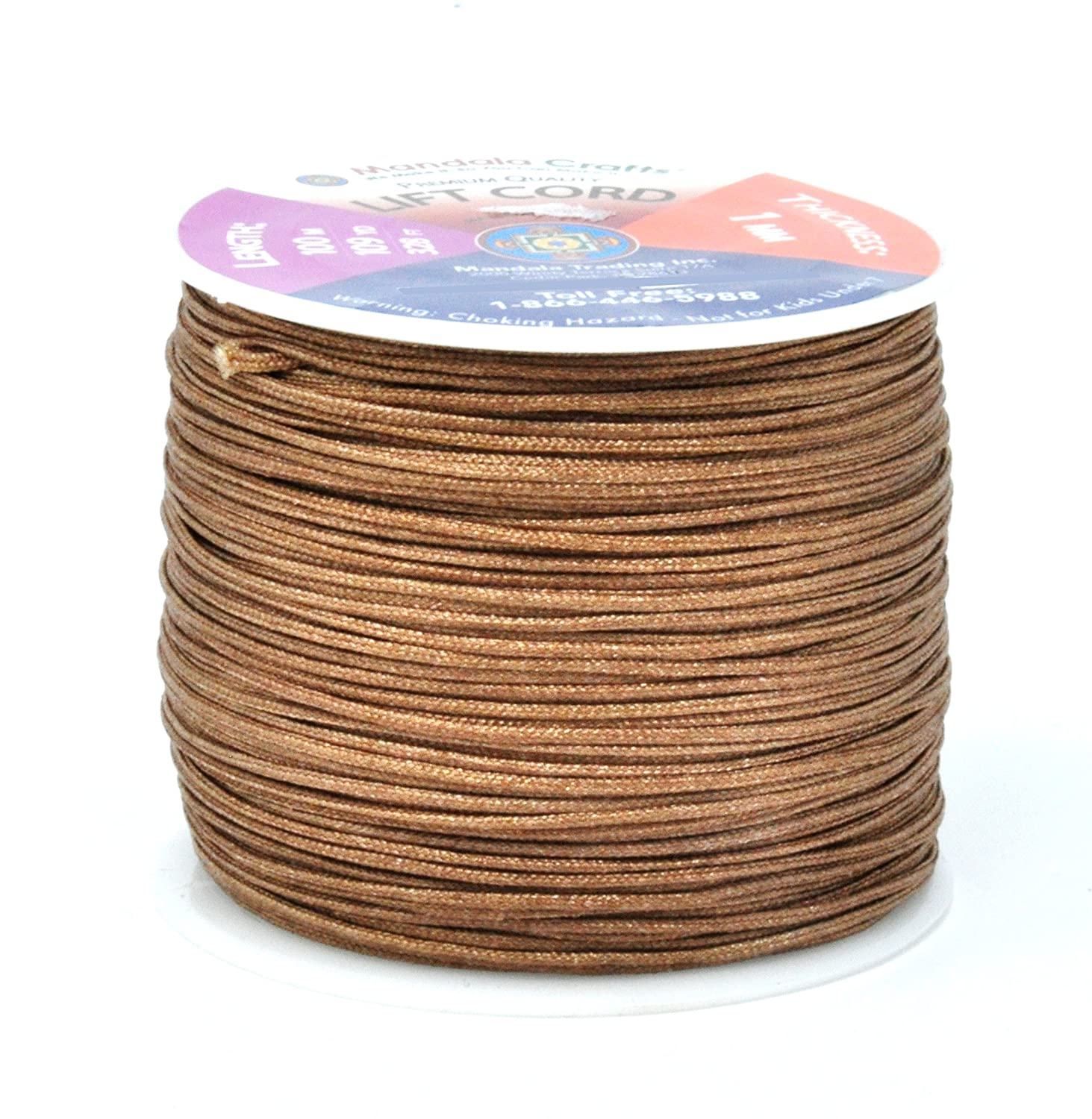 Lift Cord Replacement from Braided Nylon for RVs Shades Windows 0.8mm, Chocolate Brown Mandala Crafts Blinds String and Rollers
