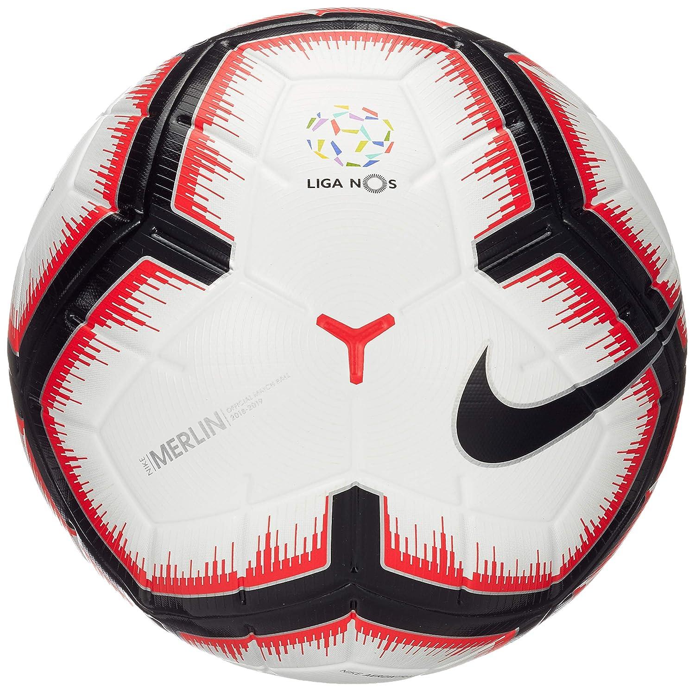 Nike nos Merlin Fútbol, White/Bright Crimson/Black, 5: Amazon.es ...