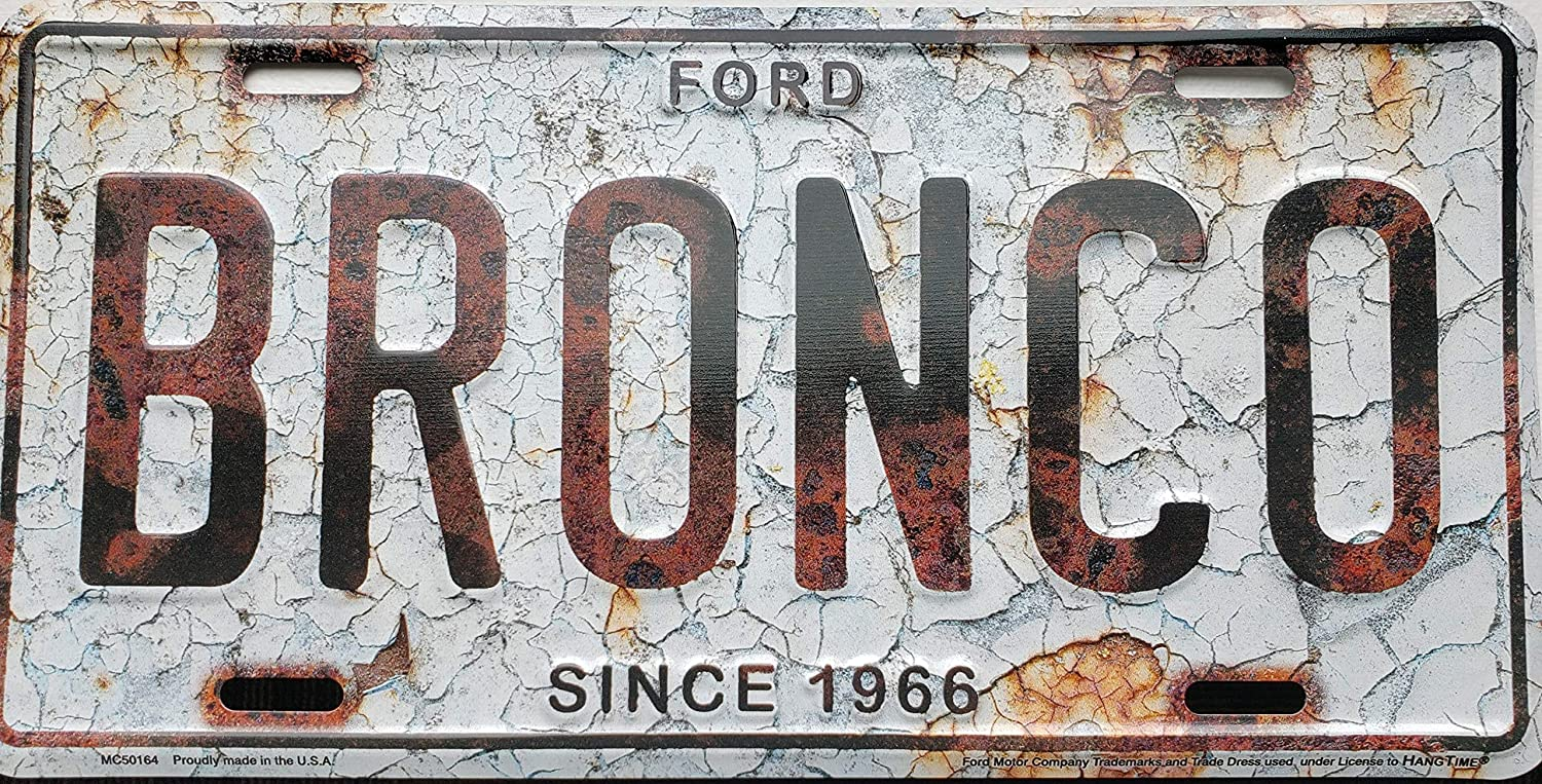 Artisan Owl Ford Bronco Officially License 6x12 Aluminum License Plate Tag