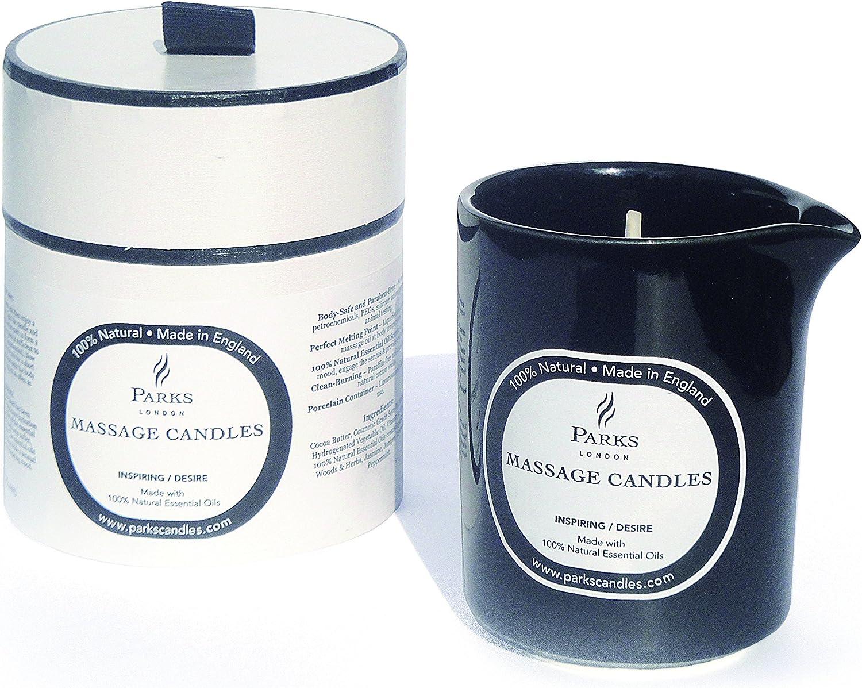 Stimolante//Sensuale Parks London Candele per Aromaterapia e Massaggio Cera Multicolore 9 x 9 x 8 cm