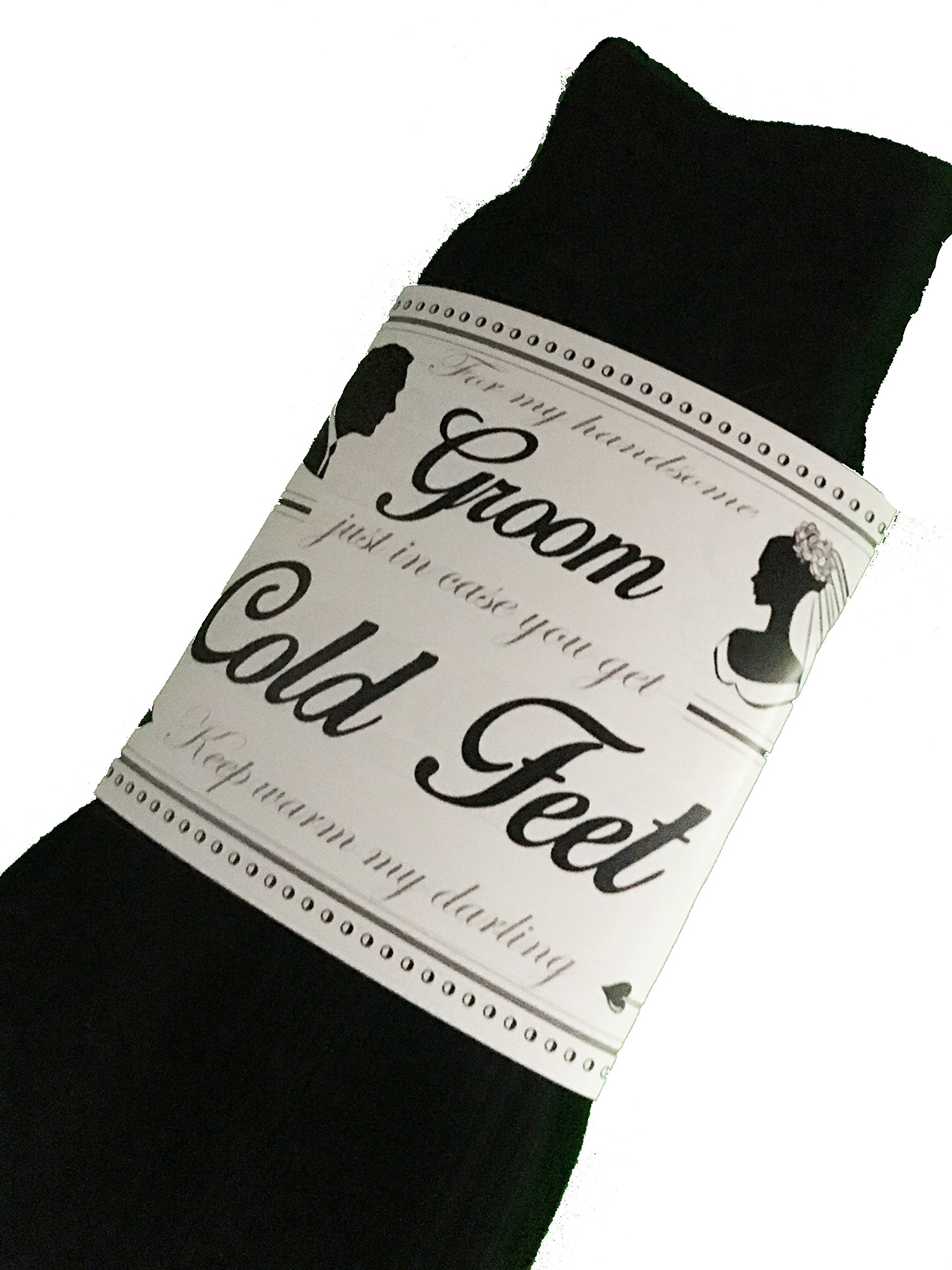 Cold Feet Socks for a Groom from the Bride by Wedding Tokens