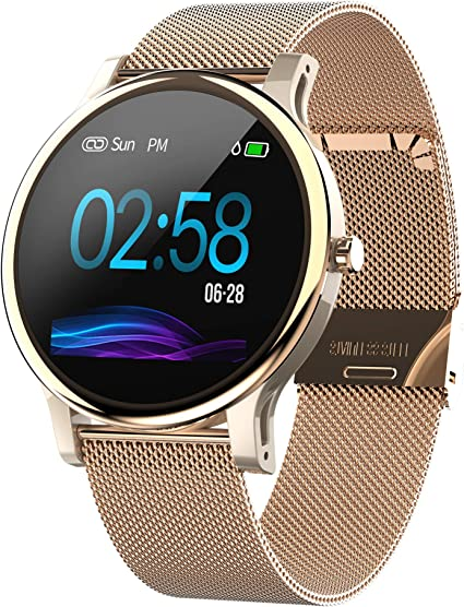 "Mintsin1.3"" LCD Display Touch Screen Fitness Tracker Watch with Heart Rate and Sleep Monitor, Notification Smartwatch Compatible with 2019 Version ..."