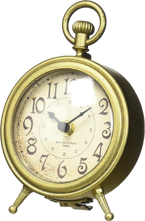 Nikky Home - Reloj de mesa con asa cuarzo, reloj analógico vintage ...