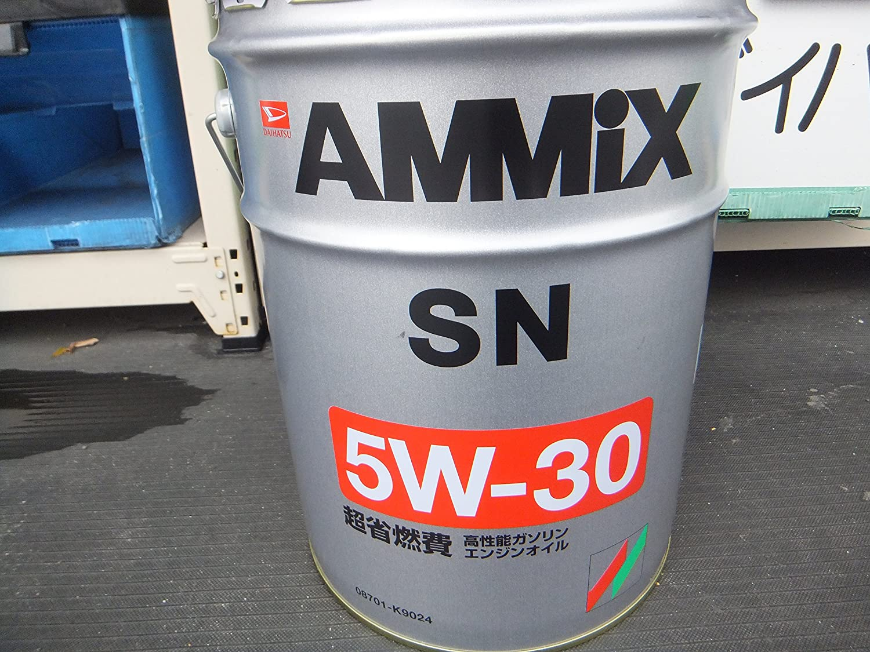 DAIHATSU/ダイハツ純正 エンジンオイル AMMIX/アミックス API:SN SAE:5W-30 20L 純正品番:08701-K9024 B00CAGN0FO