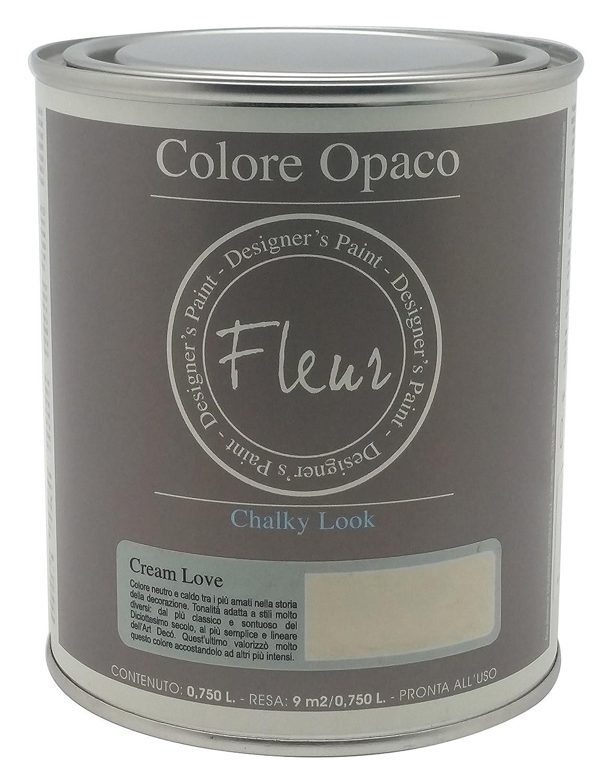 Fleur Paint 13402 - Pintura mineral (base agua, 750 ml) color cream love Expresiones Decorativas Nipa