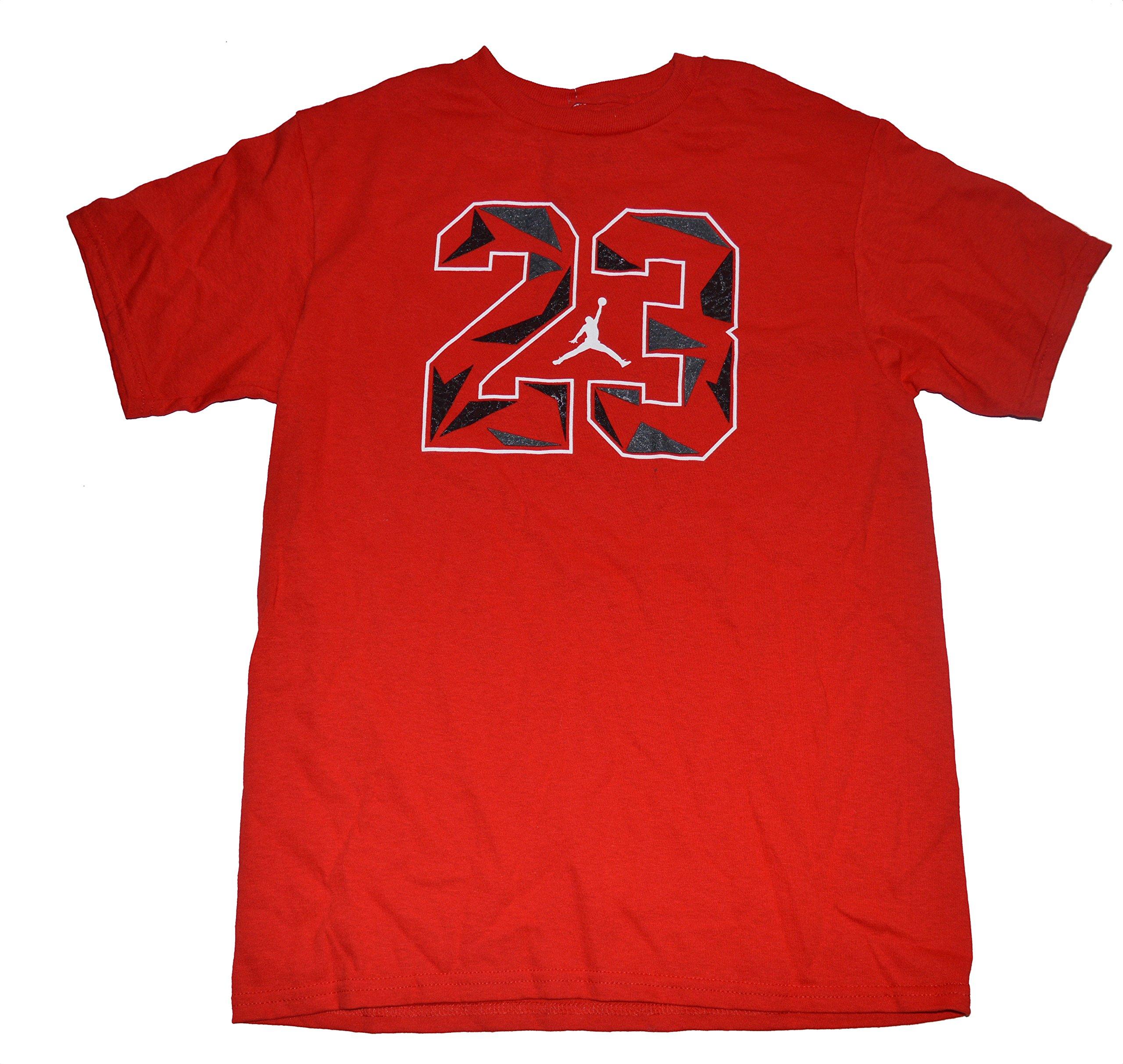 Nike Air Jordan Jumpman Big Boys Crewneck 23 Jumpman T Shirt Red Size Large
