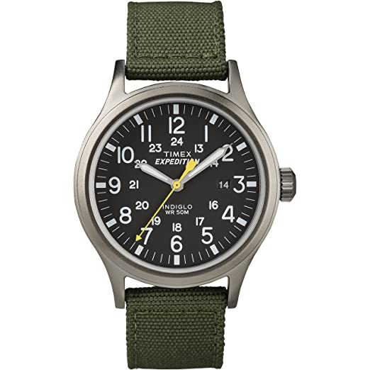 Timex Men's T49961 Expedition Scout Green Nylon Strap Watch best minimalist watches for men