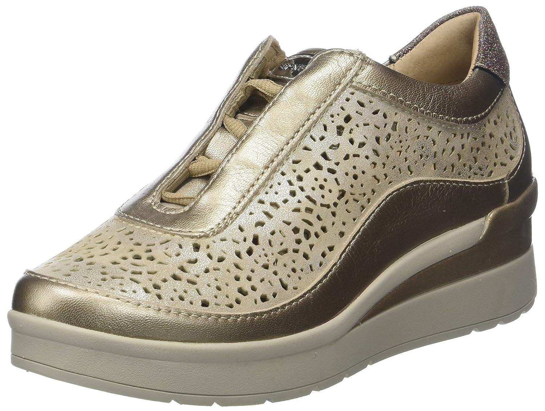 Stonefly Cream 2 bis Goat Lam, Zapatos con Plataforma para Mujer 35 EU|Dorado (Metal Fizz Z00)